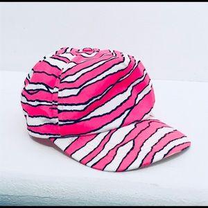 FUGLY Vintage 80s/90s Neon Pink Zebra Trucker Hat